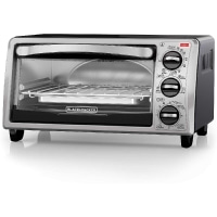 BLACK+DECKER 4-Slice Convection Oven, Stainless Steel, TO1313SBD