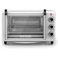 BLACK+DECKER Crisp 'N Bake Air Fry Toaster Oven, 6 Slice, 5 Cooking Functions, Stainless Steel, TO3215SSD