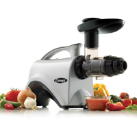 Omega Juicers NC800HDS Juicer Extractor and Nutrition Center Creates Fruit Vegetable and Wheatgrass Juice Quiet Motor Slow Masticating