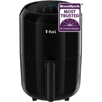 T-Fal EY301850 Easy Fry Compact Duo Precision 1.6L Air Fryer, Fry, Grill, Roast, Bake, Black