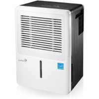 Ivation 30 Pint Energy Star Dehumidifier - for Spaces Up to 2,000 Sq Ft - Includes Programmable Humidistat, Hose Connector, Auto Shutoff/Restart, Casters & Washable Air Filter (30 Pint),White