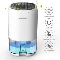 ALROCKET Dehumidifier 35 Ounce Small Dehumidifier for 2100 Cubic Feet 230 Square Foot Portable and Compac