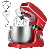 VIVOHOME 7.5 Quart Stand Mixer, 660W 6-Speed Tilt-Head Kitchen Electric Food Mixer with Beater, Dough Hook and Wire Whip, ETL Listed