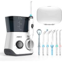 ABOX Oral Irrigator, Dental Oral Irrigator 600ML Capacity with 8 Multifunctional Tips