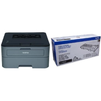 Brother HLL2320D Monochrome Laser Printer with TN660 High Yield Black Toner