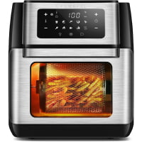 CROWNFUL 9-in-1 Air Fryer Toaster Oven, Convection Roaster with Rotisserie & Dehydrator