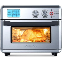 CalmDo Air Fryer Convection Oven, 25L Stainless Steel Toaster Oven with 21 Preset Cooking Programs