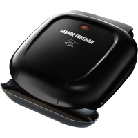 George Foreman 2-Serving Classic Plate Electric Indoor Grill and Panini Press, Black, GR0040BC