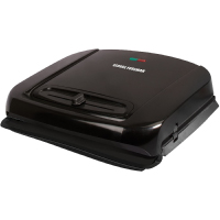 George Foreman Grill and Panini Press with Adjustable Temperature and Removable Plates