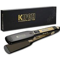 KIPOZI 1.75 Inch Titanium Flat Iron Professional Wide Hair Straightener