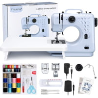 Magicfly Portable Sewing Machine for Beginners, Multi-functional Sewing Machine with 12 Built-in Stitches & Extension Table