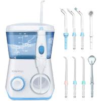 Water Flosser, TUREWELL Dental Oral Irrigator10 Adjustable Pressure Settings Electric Dental Countertop Oral Irrigator For Teeth