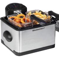 Elite Platinum EDF-401T Maxi-Matic 1700-Watt Stainless-Steel Triple Basket Electric Deep Fryer
