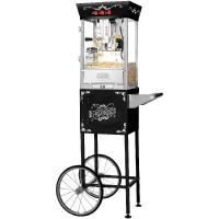 Great Northern Popcorn Black Matinee Movie 8-Ounce Bar Style Antique Popcorn Machine