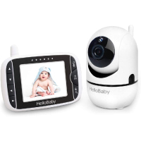 Baby Monitor, HelloBaby Video Baby Monitor with Camera Remote Pan