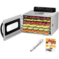 6 Trays Food Dehydrator, All Stainless Steel Dehydrator Raw Food & Jerky Fruit