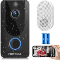 CHWARES 1080P Smart Video Doorbell Camera with Chime