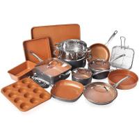 Gotham Steel 20 Piece Pots & Pans Set Complete Kitchen Cookware