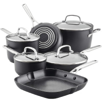 KitchenAid Hard Anodized Induction Nonstick Cookware Pots and Pans Set