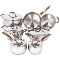 Lagostina Pots and Pans, Stainless Steel Cookware Set