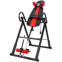 ONETWOFIT Inversion Table, Heavy Duty Folding Inversion Machine with Comfort Backrest