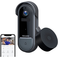 TOGUARD Video Doorbell Camera1080p WiFi HD Home Security Front Smart Door Bell Camera with Chime