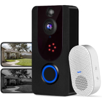 Wi-Fi Video Doorbell, Bextgoo 1080P FHD Resolution Video doorbell Camera