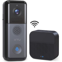 WiFi Video Doorbell Camera, XTU 2K Ultra HD Wireless Doorbell Camera with Wireless Chime