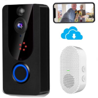 Wireless Doorbell Camera 1080P with Chime, Video Camera with PIR Motion Detection