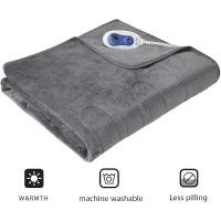 Beautyrest Foot Pocket Soft Microlight Plush Electric Blanket Heated Throw Wrap