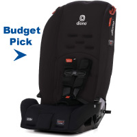 Diono Radian 3R, 3-in-1 Convertible Rear and Forward Facing Convertible Car Seat, High-Back Booster, 10 Years 1 Car Seat, Slim Design - Fits 3 Across, Jet Black