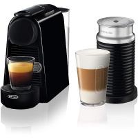 Nespresso Essenza Mini Coffee Machine by DeLonghi with Aeroccino Milk Frother - Piano Black