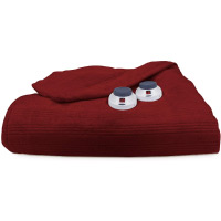 Soft Heat Ultra Micro-Plush Low-Voltage Electric Heated Triple-Rib Queen Size Blanket